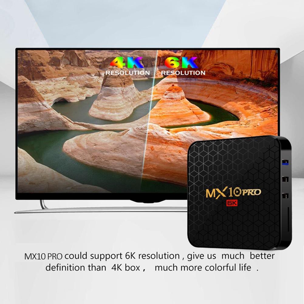 COD mx10 Pro TV Box 4GB + 32GB Android 9 0 Allwinner H6 Quad Core 6k Set  Top Box